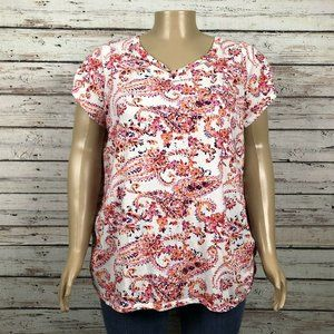 Just My Size T-shirt Top PLUS Multicolor Floral